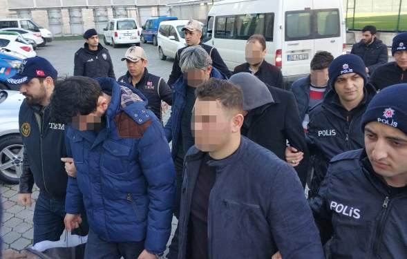 FETÖ'nün asker yapılanması operasyonunda gözaltına alınan 10 zanlı adliyede