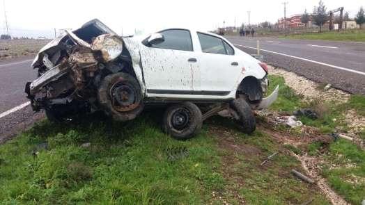 Siverek'te trafik kazasında bir kişi yaralandı