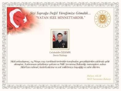 Bakan Akar'dan şehit askerlerin ailelerine taziye mesajı
