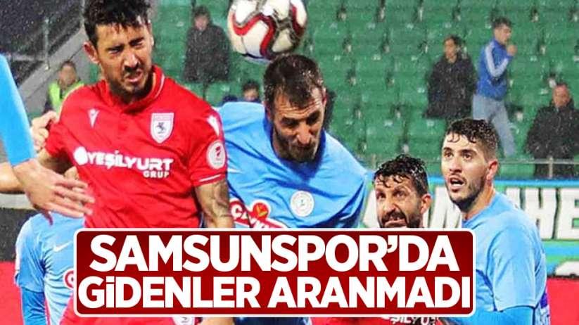 Samsunspor'da gidenler Aranmadı