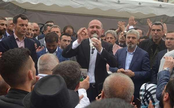 Karadeniz'de Bakan Soylu'ya şok protesto