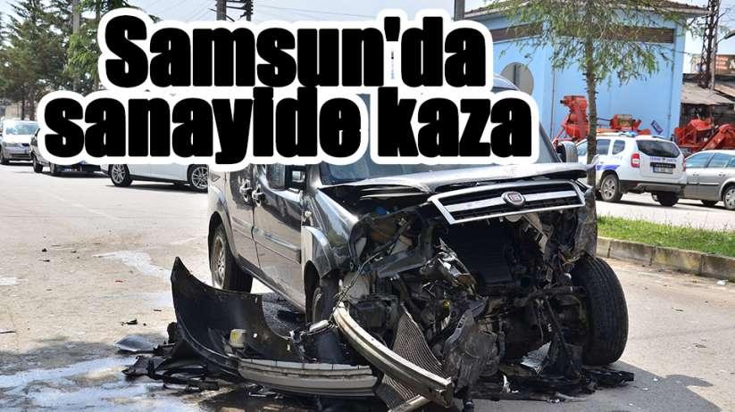 Samsun'da sanayide kaza