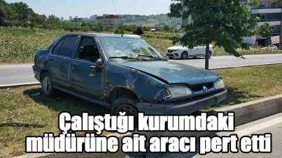 Samsun'da bakıma götürdüğü araçla kaza yaptı: 1 yaralı