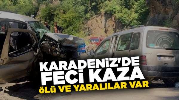 Karadeniz'de feci kaza