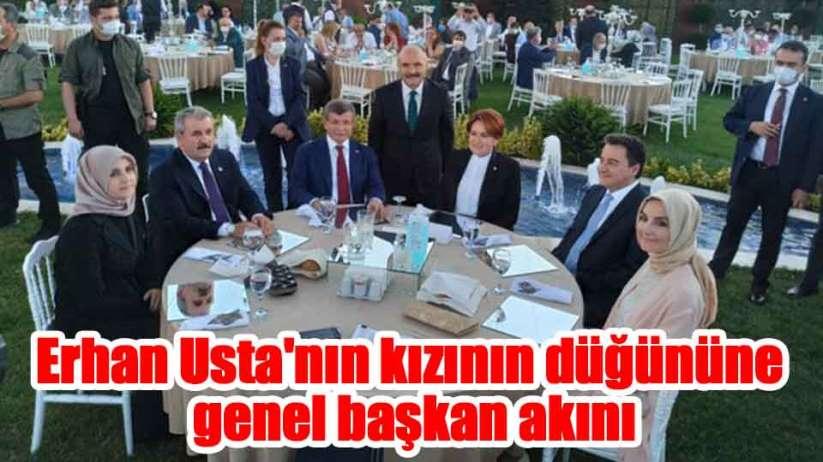 Ustanın kızının düğününe Bahçeli ve Erdoğan dışındaki genel başkanlar katıldı
