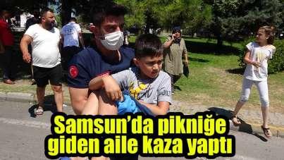 Samsun'da pikniğe giden aile kaza yaptı: 6 yaralı