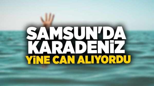 Samsun'da boğulma tehlikesi geçiren adam son anda kurtarıldı