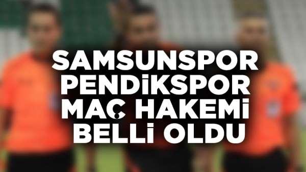 Samsunspor - Pendikspor maç hakemi şaşırttı.