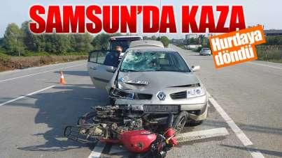Samsun'da kaza: Hurdaya döndü