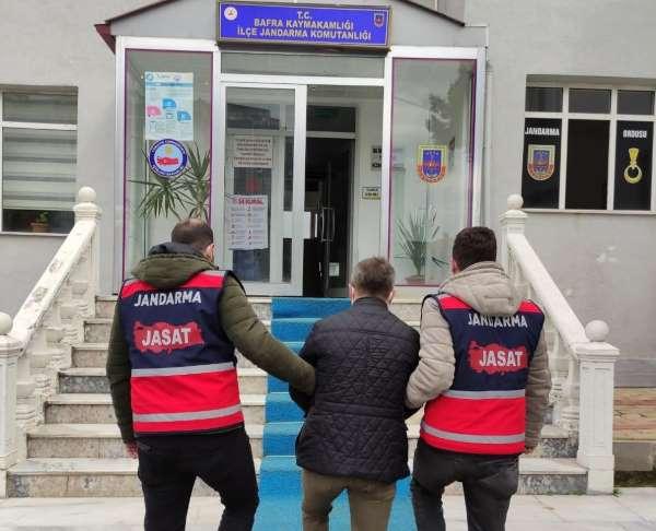6 yıl 3 ay cezası bulunan şahsı jandarma yakaladı
