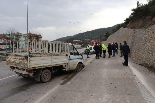 Amasyada trafik kazası: 2 yaralı