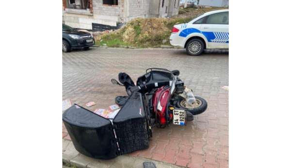 Samsunda motosiklet devrildi: 1 yaralı