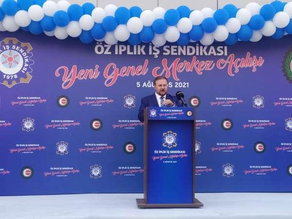 Öz İplik-İş yeni hizmet binası törenle açıldı