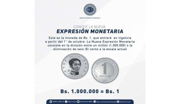 Venezuela para biriminden 6 sıfırı atıyor