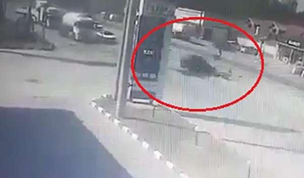 18 yaşındaki motosiklet sürücüsünün öldüğü feci kaza kamerada