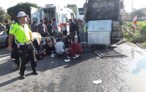 Otobüsün çarptığı belediye işçisi hayatını kaybetti