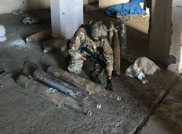 MSB: 'Tel Abyad'da, PKK/YPG'li teröristlerce EYP yapımında kullanmak üzere topla
