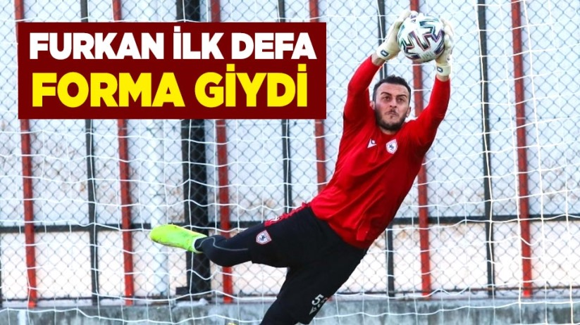 Samsunsporda bu sezon Furkan ilk defa forma giydi