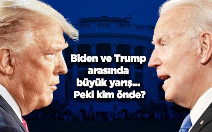 Biden ve Trump arasında büyük yarış... Peki kim önde?