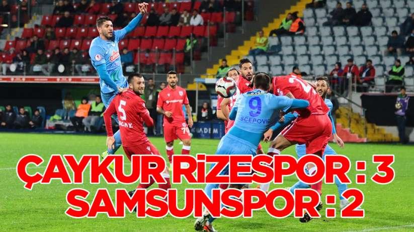 Ziraat Türkiye Kupası: Çaykur Rizespor: 3 - Yılport Samsunspor: 2