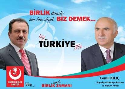 Reşadiye Belediye Başkanı Kılıç, BBPden aday oldu