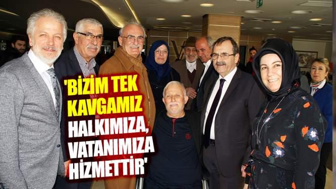 'Bizim tek kavgamız halkımıza, vatanımıza hizmettir'