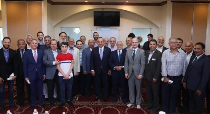 Bakan Çavuşoğlu, ABD'deki Müslümanlarla görüştü