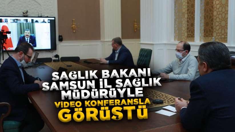 Sağlık Bakanı Samsun İl Sağlık Müdürüyle görüştü