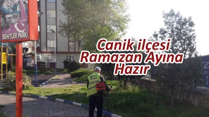 Samsun'da Canik'te Ramazan temizliği