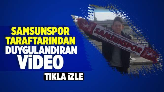 Samsunspor taraftarından Efe Aksakal anısına video