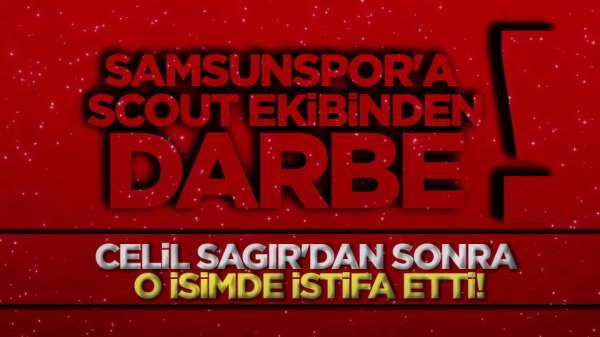 Samsunspor'da istifalar üst üste, scout ekibinden bir istifa daha!