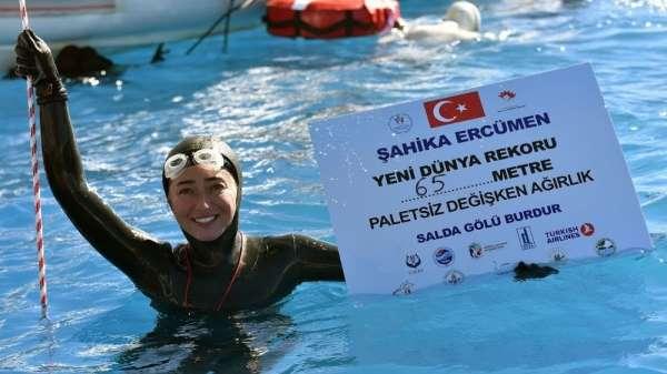 Dünya Rekortmeni Şahika Ercümen, Akyaka Azmak'ta dalış gerçekleştirilecek