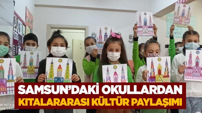 Samsundaki okullardan kıtalararası kültür paylaşımı