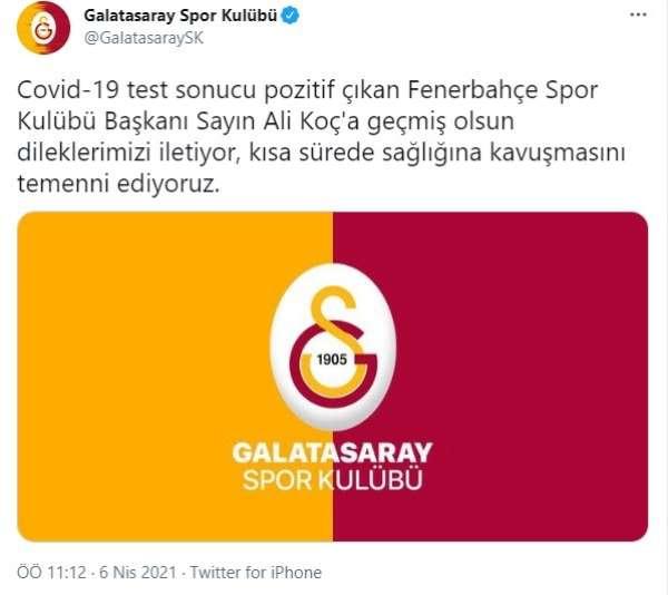 Galatasaraydan Ali Koça geçmiş olsun mesajı