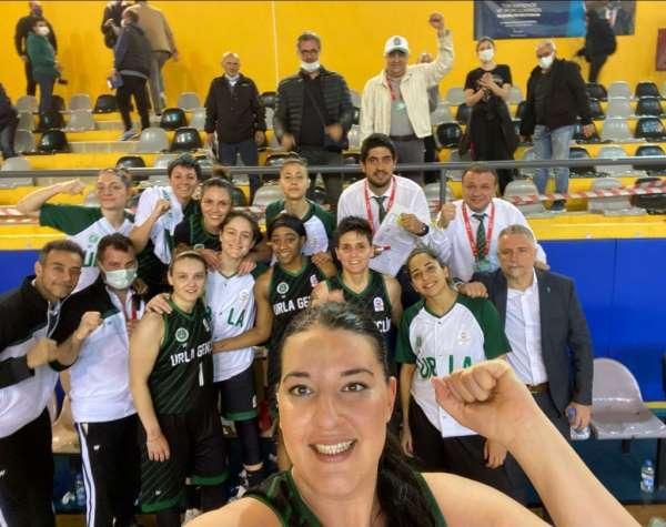 Türkiye Kadınlar Basketbol 1. Ligi: Menemen Belediyesi Karşıyaka: 62 - Urla Belediyesi Gençlik Spor: 72