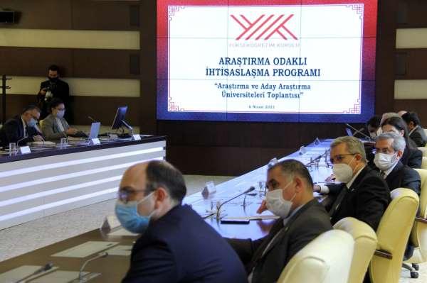 YÖK Başkanı Saraç araştırma ve aday araştırma üniversitelerinin rektörleriyle buluştu