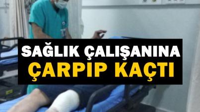 Samsun'da sağlık çalışanına çarpıp kaçtı