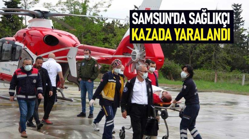 Samsunda sağlıkçı kazada yaralandı
