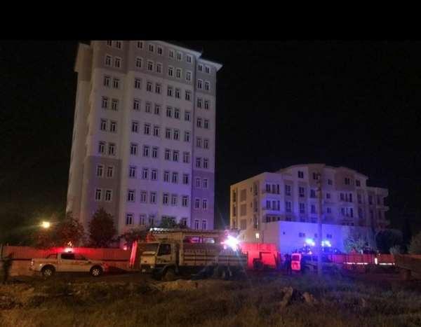 Burdurda 10 katlı binanın çatısında intihar girişimi