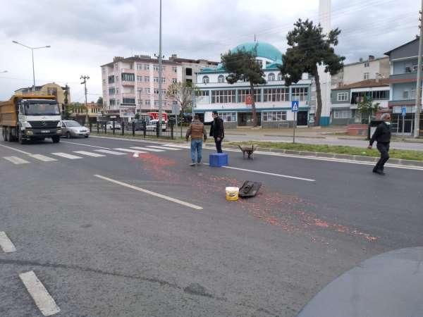 Samsunda kamyonet ile elektrikli bisiklet çarpıştı: 1 yaralı