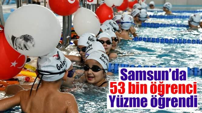Samsun'da 53 Bin Öğrenci Yüzme Öğrendi