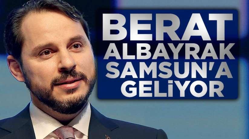 Berat Albayrak Samsun'a geliyor.