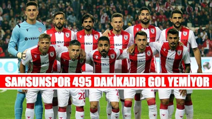Samsunspor 495 Dakikadır Gol Yemiyor