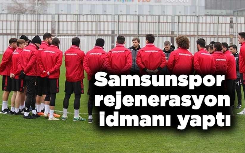 Samsunspor rejenerasyon idmanı yaptı
