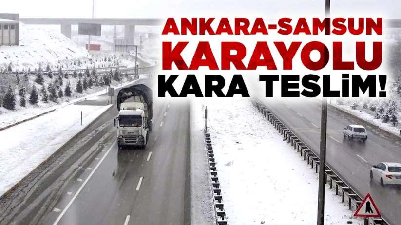 Ankara-Samsun karayolu kara teslim!