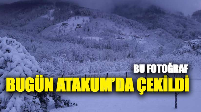 Samsun Atakum'da Kar Manzaraları
