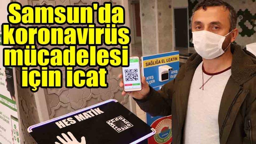 Samsun'da koronavirüs mücadelesi için icat