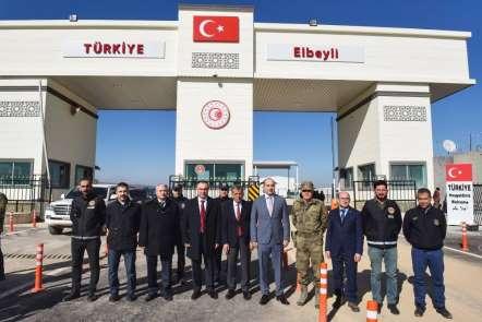 Vali Soytürk Çobanbey Sınır Kapısında incelemelerde bulundu