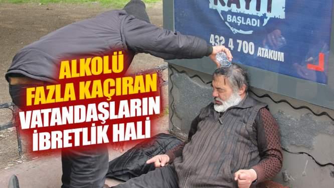 Alkolü fazla kaçıran vatandaşların ibretlik halleri!