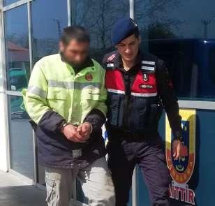 Televizyon çalarken yakalanan zanlı tutuklandı